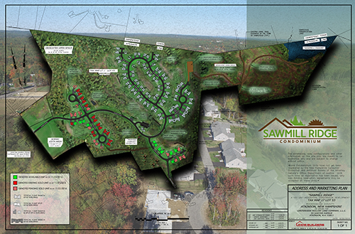 Sawmill Ridge Condominium Atkinson NH Site Map with new home status
